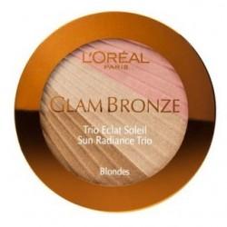Пудра для лица компактная Glam Bronze Sun Radiance Trio 201 Blondes