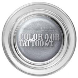 Тени для век кремово-гелевые 1-цветные Color Tattoo 24h 50 Серебро 9ml