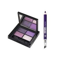 340943 Набор для макияжа SMOKY EYES KIT (Тени для век 4-цветные компактные 4Eyes Palette Ombretti Multiuso 23 6g+Карандаш для гл