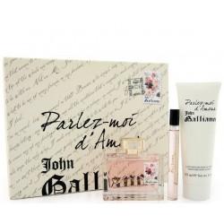 John Galliano Parlez-Moi D`Amour — набор (edt 80ml+edt 10ml+b/lot 125ml) для женщин