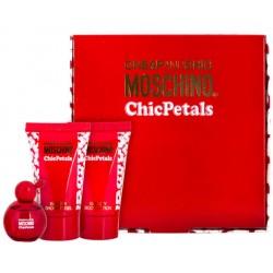Moschino Cheap & Chic Chic Petals — набор (edt 4.9ml+b/lot 25ml+sh/gel 25ml) для женщин