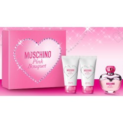 Moschino Pink Bouquet — набор (edt 50ml+b/lot 100ml+sh/gel 100ml) для женщин