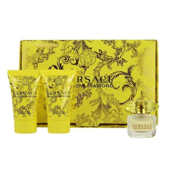 Versace Yellow Diamond — набор (edt 5ml+b/lot 25ml+sh/gel 25ml) для женщин