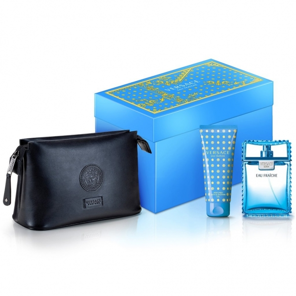 Versace Man Eau Fraiche — набор (edt 100ml+sh/gel 100ml+bag) для мужчин