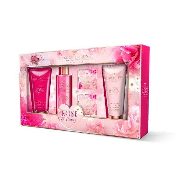 Набор Grace Cole Rose and Peony Flourish / для женщин с ароматом розы и пиона