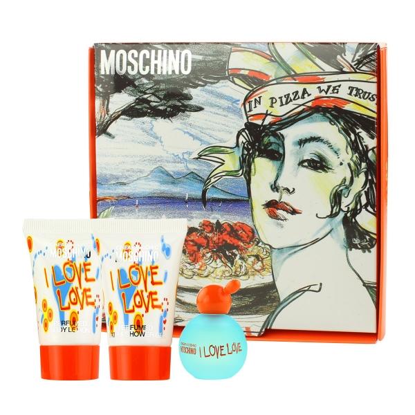 Moschino Cheap & Chic I Love Love — набор (edt 4.9ml+b/lot 25ml+sh/gel 25ml) для женщин