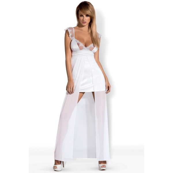 Эротичная сорочка с кружевными бретелями Feelia Gown