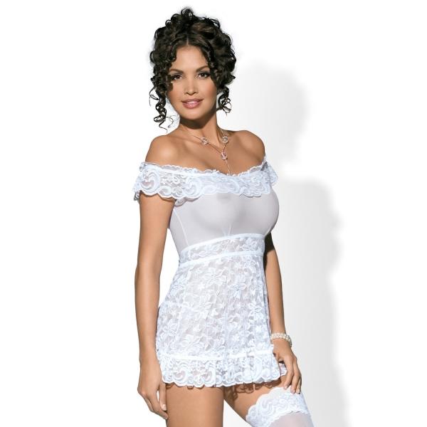 Эротический комплект / кружевная сорочка и стринги Flores