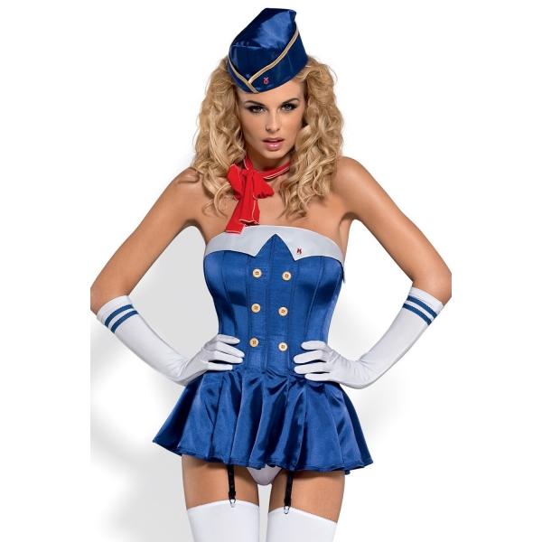 Эротический игровой костюм Stewardess Corset