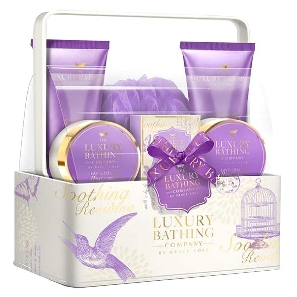 Набор Grace Cole Lavender & Honeysuckle Body & Soul / для женщин с ароматом лаванды и жимолости