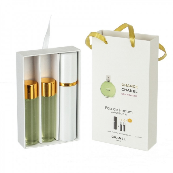 Chanel Chance Eau Fraiche — духи с феромонами 45ml (3x15) для женщин