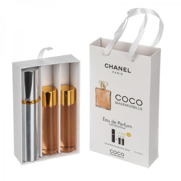 Chanel Coco Mademoiselle — духи с феромонами 45ml (3x15) для женщин
