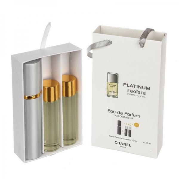 Chanel Egoiste Platinum — духи с феромонами 45ml (3x15) для мужчин