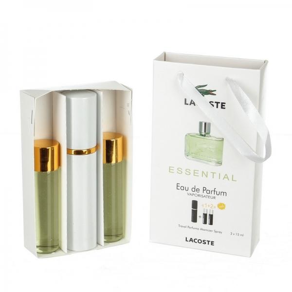 Lacoste Essential — духи с феромонами 45ml (3x15) для мужчин