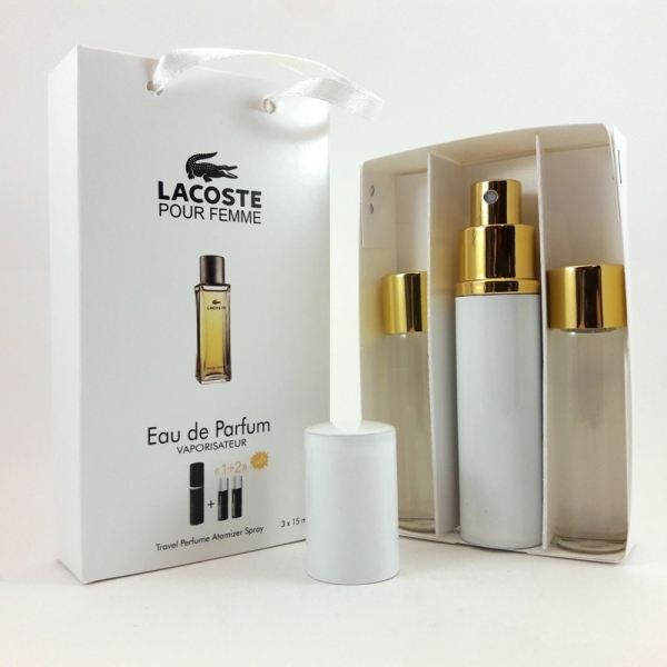 Lacoste Pour Femme — духи с феромонами 45ml (3x15) для женщин