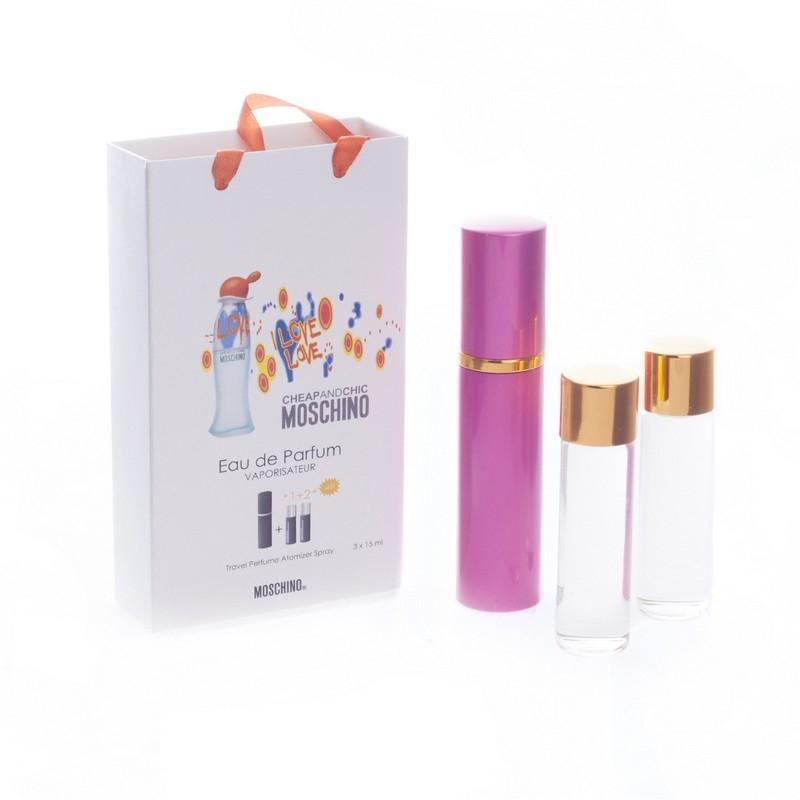 Moschino Cheap & Chic I Love Love — духи с феромонами 45ml (3x15) для женщин