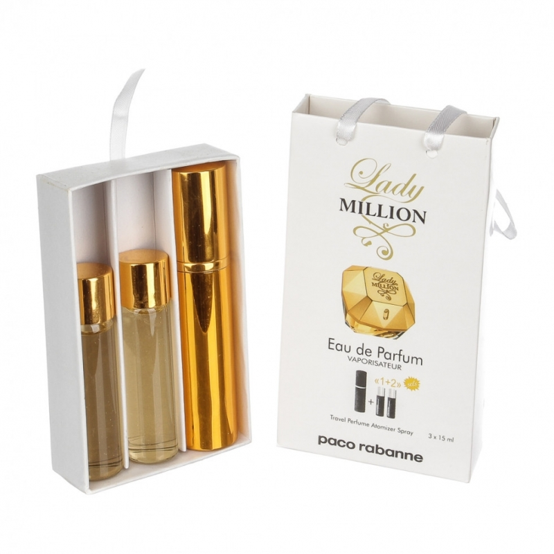 Paco Rabanne Lady Million — духи с феромонами 45ml (3x15) для женщин
