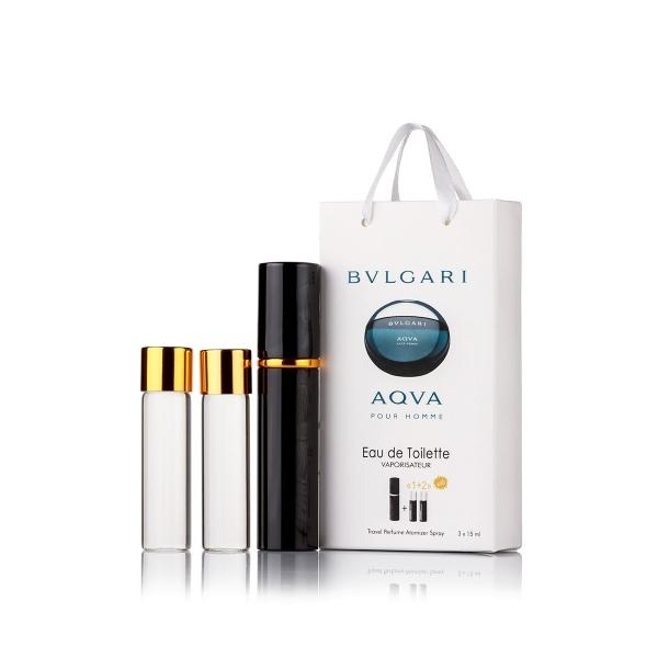 Bvlgari Aqva pour homme — духи с феромонами 45ml (3x15) для мужчин