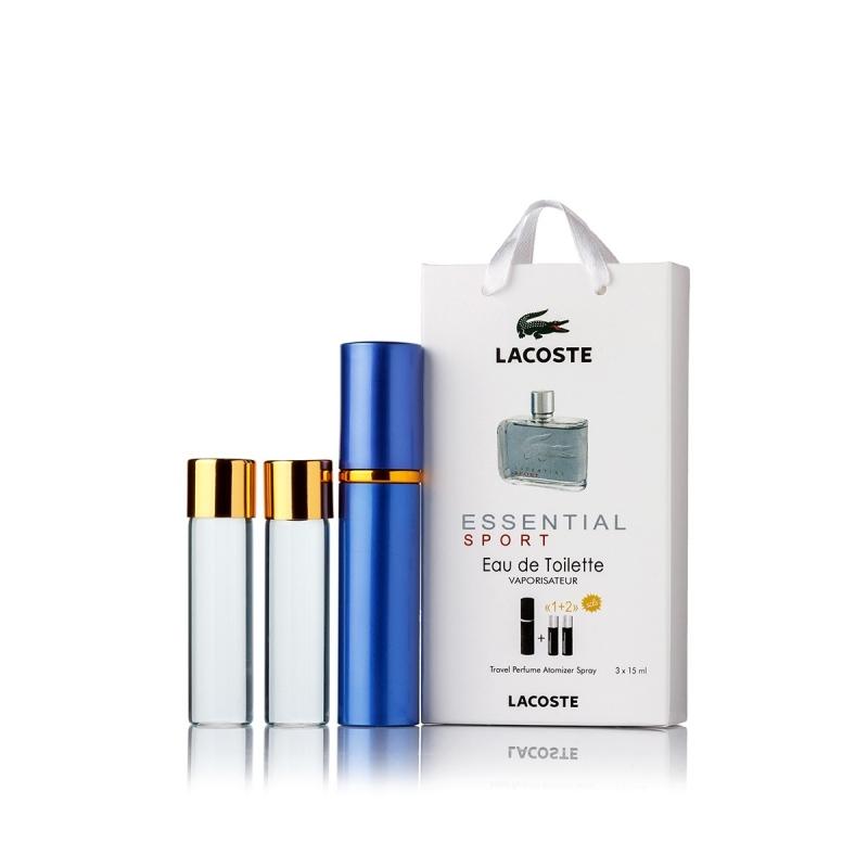Lacoste Essential Sport — духи с феромонами 45ml (3x15) для мужчин