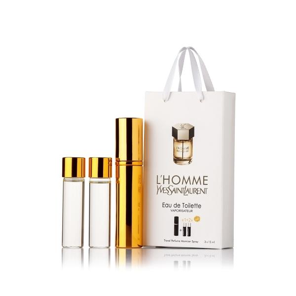 Yves Saint Laurent L`Homme — духи с феромонами 45ml (3x15) для мужчин