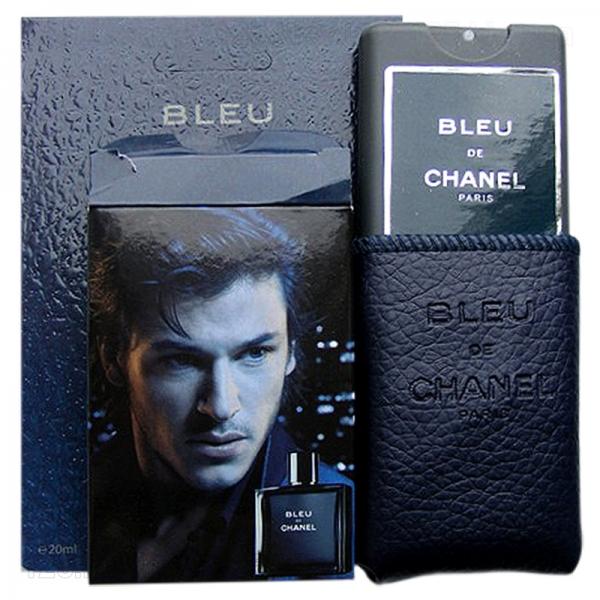 Chanel Bleu de Chanel — мини парфюм в кожаном чехле 20ml для мужчин