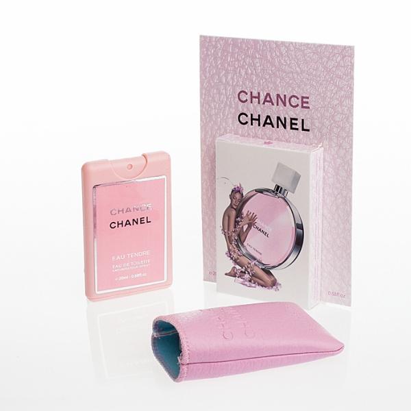 Chanel Chance Eau Tendre — мини парфюм в кожаном чехле 20ml для женщин