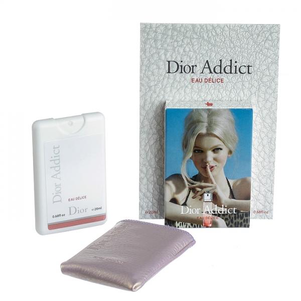 Christian Dior Addict Eau Delice — мини парфюм в кожаном чехле 20ml для женщин