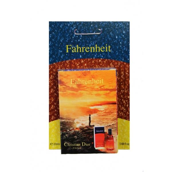 Christian Dior Fahrenheit — мини парфюм в кожаном чехле 20ml для мужчин