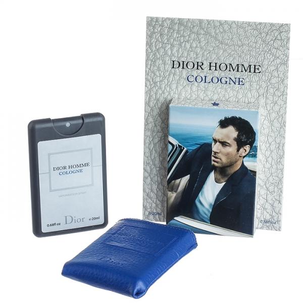Christian Dior Homme Cologne — мини парфюм в кожаном чехле 20ml для мужчин