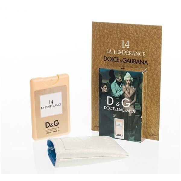 Dolce & Gabbana 14 La Temperance — мини парфюм в кожаном чехле 20ml для женщин