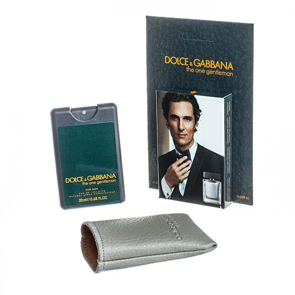 Dolce & Gabbana The One Gentleman — мини парфюм в кожаном чехле 20ml для мужчин