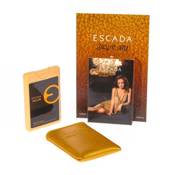 Escada Desire Me — мини парфюм в кожаном чехле 20ml для женщин