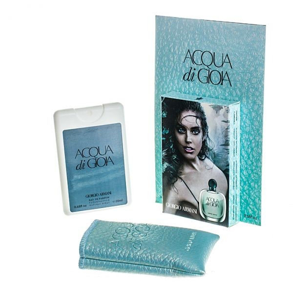 Giorgio Armani Acqua di Gioia — мини парфюм в кожаном чехле 20ml для женщин