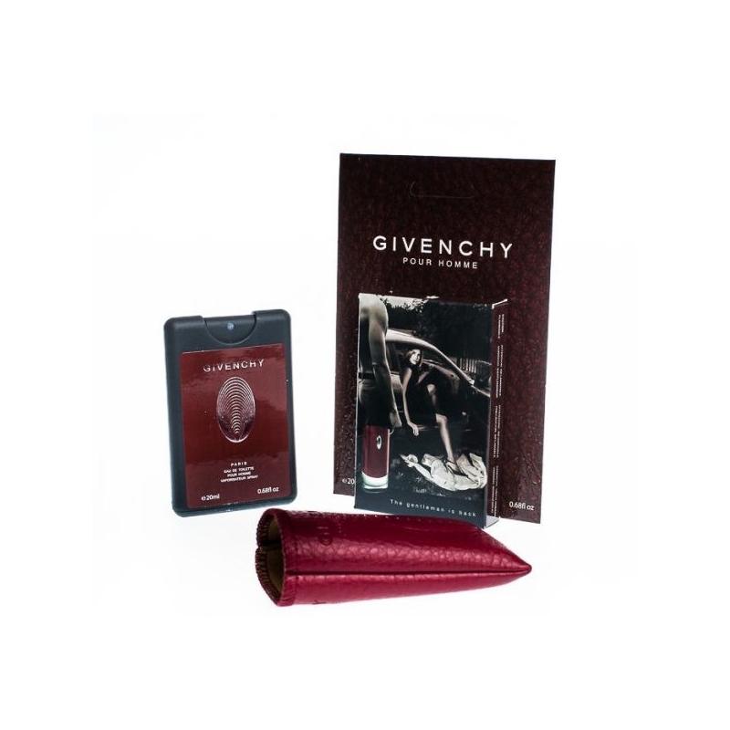 Givenchy pour homme — мини парфюм в кожаном чехле 20ml для мужчин