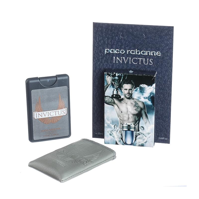 Paco Rabanne Invictus — мини парфюм в кожаном чехле 20ml для мужчин