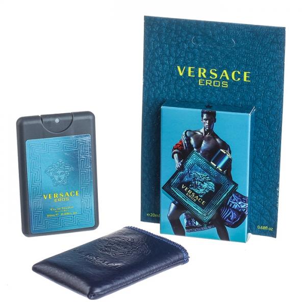 Versace Eros — мини парфюм в кожаном чехле 20ml для мужчин