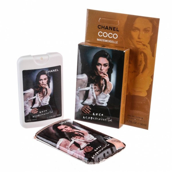 Chanel Coco Mademoiselle — мини парфюм в кожаном чехле 50ml для женщин