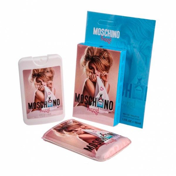 Moschino Funny — мини парфюм в кожаном чехле 50ml для женщин