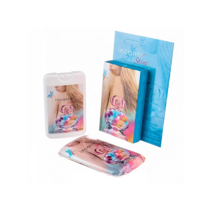 Salvatore Ferragamo Incanto Shine — мини парфюм в кожаном чехле 50ml для женщин