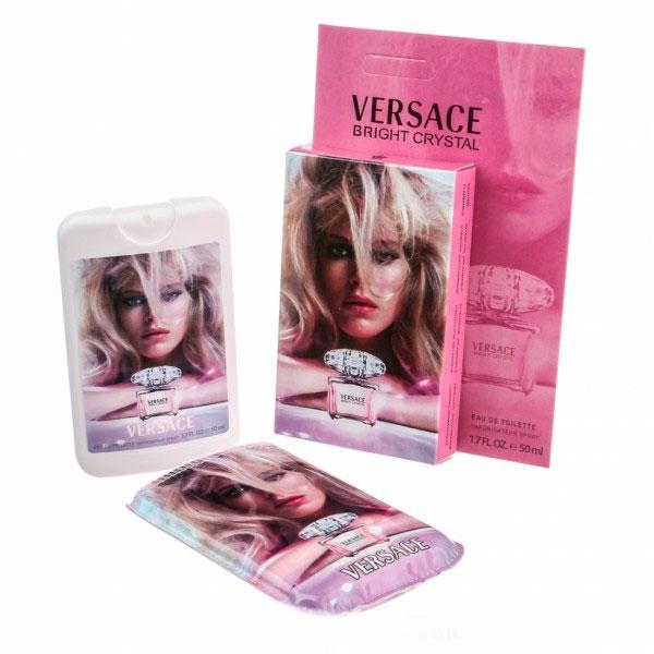 Versace Bright Crystal — мини парфюм в кожаном чехле 50ml для женщин