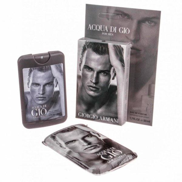 Giorgio Armani Acqua di Gio — мини парфюм в кожаном чехле 50ml для мужчин