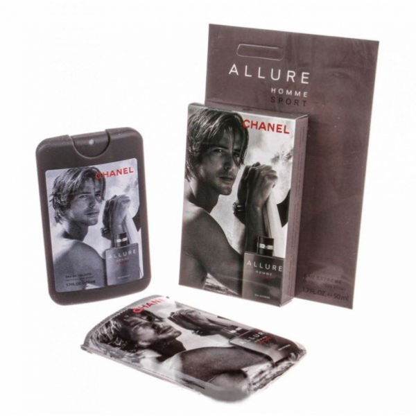 Chanel Allure Homme Sport Extreme — мини парфюм в кожаном чехле 50ml для мужчин