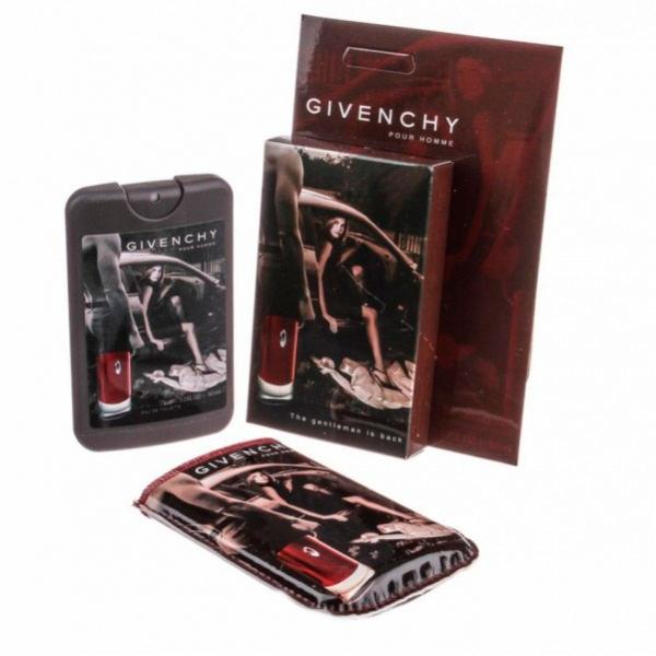 Givenchy pour homme — мини парфюм в кожаном чехле 50ml для мужчин