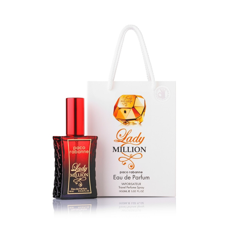 Paco Rabanne Lady Million — парфюмированная вода в подарочной упаковке 60ml для женщин