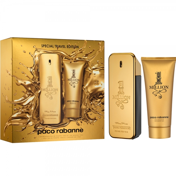 Paco Rabanne 1 Million — набор (edt 100ml+sh/gel 100ml) для мужчин Special Travel Edition