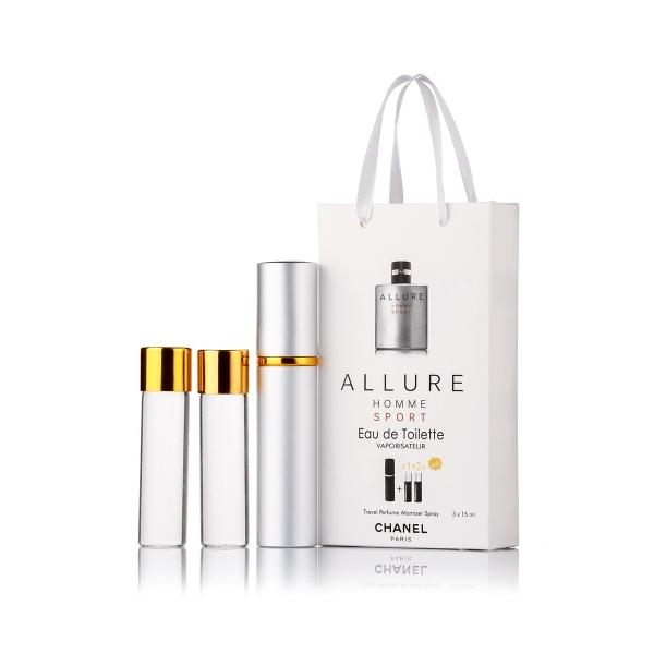 Chanel Allure Homme Sport — духи с феромонами 45ml (3x15) для мужчин