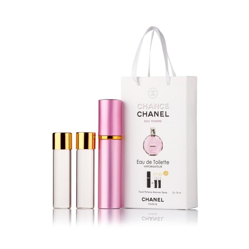 Chanel Chance Eau Tendre — духи с феромонами 45ml (3x15) для женщин