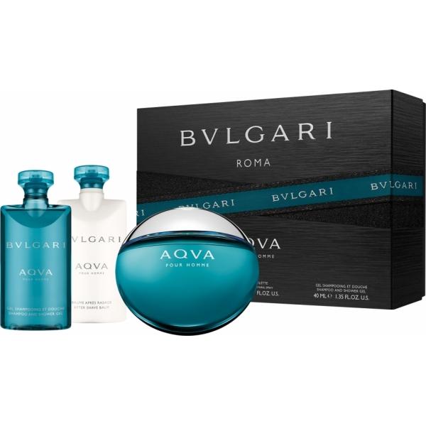 Bvlgari Aqva Pour Homme — набор (edt 100ml+ 75asb+ 75s\g + косметичка) для мужчин