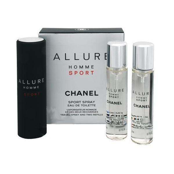 Chanel Allure Homme Sport — туалетная вода 3*20ml для мужчин