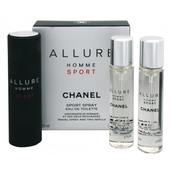Chanel Allure Homme Sport — туалетная вода 3*20ml для мужчин (сменный блок)